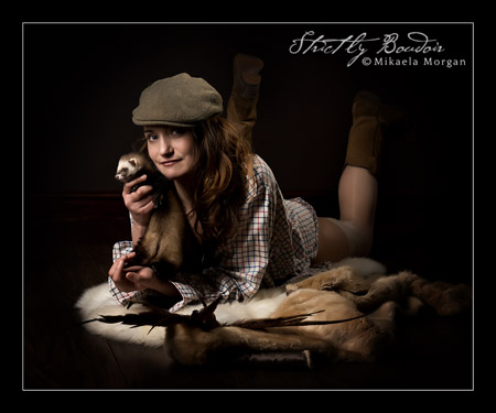 Photo Shoot with Billie the Ferret